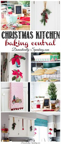 I'm sharing my Christmas Kitchen which is baking central this time of year plus I've got my Grandmas' Christmas Butter Cookies recipe. Christmas Kitchen, Christmas Crafts, Christmas Decorations, Christmas Ideas, Christmas Recipes, Holiday Ideas, Christmas Foods, Christmas Things, Winter Holiday