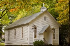 Mount Bethel Church in Blowing Rock NC in the Fall.          Love the bell.  I wonder if they used this for a school?