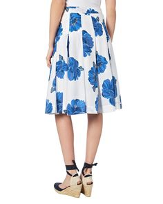 Holiday Shop   White Iona Floral Print Cotton Skirt   Phase Eight