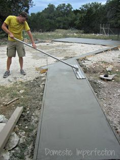 How to calculate concrete needed to pour a slab moms summer diy garage foundation solutioingenieria Image collections