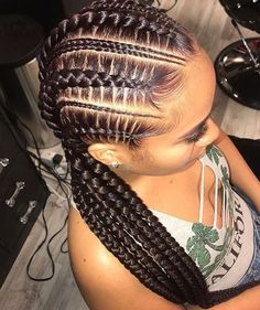 in Braids 35 Cornrow Hairstyles Dark Red Feed In Cornrows Box Braids Hairstyles, African Hairstyles, Girl Hairstyles, Hairstyles Videos, Black Cornrow Hairstyles, Trendy Hairstyles, Curly Hair Styles, Natural Hair Styles, Hair Braiding Styles Black