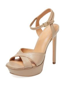 Woven Leather Platform Sandal from Best-Dressed Wedding Guest: Cocktail Chic on Gilt