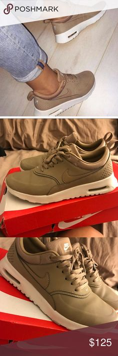 Nike air max Thea premium desert   ♨️♨️♨️  Exclusive nike air max Thea purchased at Barneys Desert leather size 6  good condition Nike Shoes Sneakers
