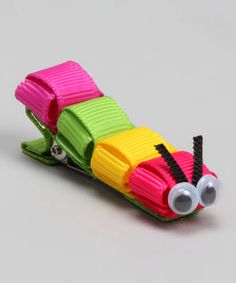 Take a look at this Rainbow Caterpillar Clip by Sugar Baby Hairbows on #zulily today!