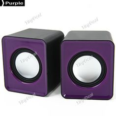 Mini Portable Stereo Sound Magnetically-shielded Speakers for Laptop Desktop Computers HHITH-263788