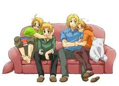Hetalia Des-Chan ~ father and son day awwww