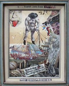 """Time Travel Gets Weird"" by Robert Rabinowitz Mixed Media"