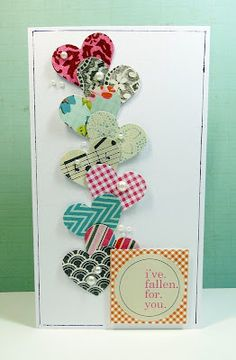 Nice way to use up small scraps of paper.  Could use Star or Flower punch as well.