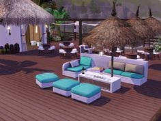 Beach Bar design by grammiki a Beach Cafe, Outdoor Furniture Sets, Outdoor Decor, Thessaloniki, Cafe Bar, Restaurant Bar, Sun Lounger, Patio, Interior Design