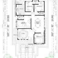 Pelan rumah yang murah House Plans, Bb, Floor Plans, How To Plan, House Floor Plans, Floor Plan Drawing, Home Plans