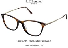 LK BENNETT LKB036 C3 TORT AND GOLD Lk Bennett, Bond Street, Eyewear, London, Glasses, Luxury, Stylish, Gold, Design