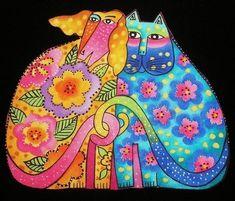 Laurel burch cat and dog Laurel Burch, Kids Art Class, Art For Kids, Burch Fabrics, Inchies, 2nd Grade Art, Cat Quilt, Cat Pattern, Art Plastique
