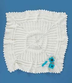 Free Knitting Pattern: Aran Sampler Blanket