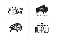 Obsessed with Brickyard Buffalo's branding...