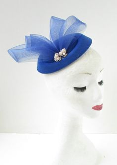 Items similar to Blue Silver Ivory Pearl Pillbox Hat Fascinator Headpiece Races Vintage on Etsy Pillbox Fascinators, Pillbox Hat, Ivory Pearl, Ivory White, Vintage Style, Vintage Fashion, Women's Fashion, Metal Hair Clips, Shoe Clips