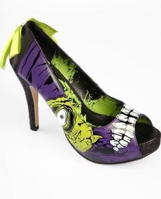 IRON FIST PURPLE ZOMBIE STOMPER LIMITED EDITION HEELS PLATFORMS WOMENS SHOES