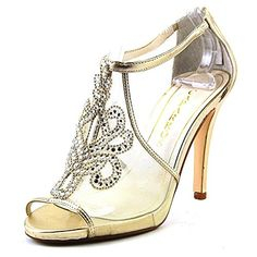 Caparros Magical Women US 10 Gold Peep Toe Heels <3 Find similar products by clicking the image