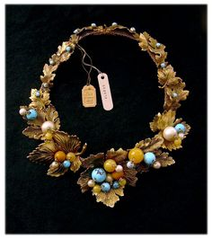 Dior Fruit & Foliage Necklace, 1962, original tags