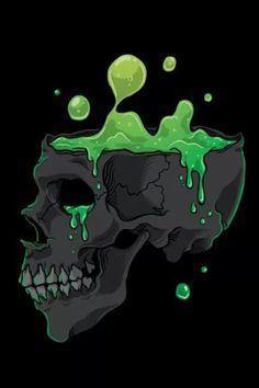 A witches Cauldron Skull ! Art Sketches, Art Drawings, Dibujos Pin Up, Arte Punk, Graffiti Characters, Skull Artwork, Skull Illustration, Skeleton Art, Skull Wallpaper