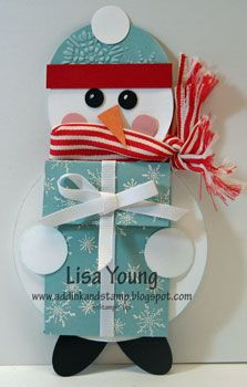 Add Ink and Stamp: Snowman Gift Card Holder