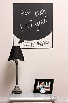 LOVE this chalkboard wall decal!
