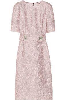 Dolce & Gabbana Belted jacquard dress | NET-A-PORTER