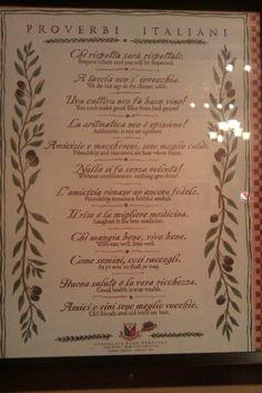 Italian proverbs :)