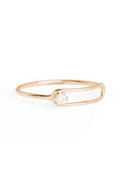 SARAH & SEBASTIAN 'Nimbus' Diamond Oblong Ring available at #Nordstrom