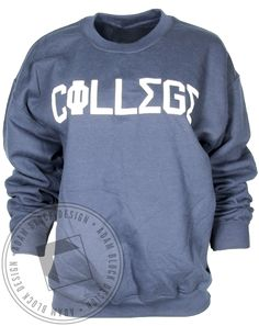 Phi Sigma Sigma College Letters Sweatshirt by Adam Block Design