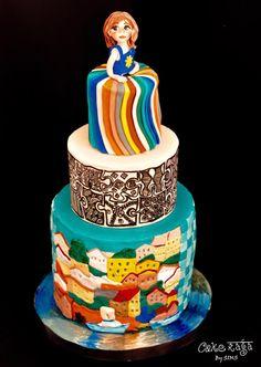 #SugarArtForAutism...my contribution - Cake by CAKE RAGA Gorgeous Cakes, Amazing Cakes, Gravity Defying Cake, Just Bake, Painted Cakes, Sugar Craft, Edible Art, Creative Cakes, Cupcake Cakes