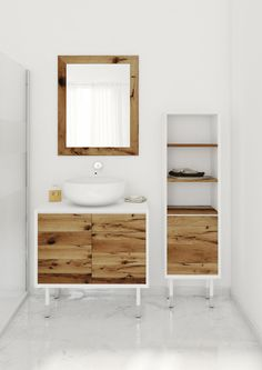 Bianchini U0026 Capponi Multicolour Vanity With Reclaimed Wood //  Wood White Simple Material Colour
