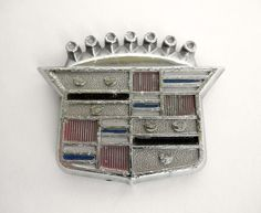 1970s Cadillac Hood Ornament Caddy Bling Auto Emblem Vintage Car Badge Repurpose by JackpotJen on Etsy