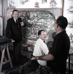 Walt Disney working on his dream: Disneyland.