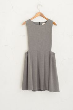 Olive - Simple Pleated Pinafore Dress, Grey, £59.00 (http://www.oliveclothing.com/p-oliveunique-20150813-006-grey-simple-pleated-pinafore-dress-grey)