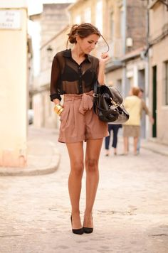 Sheer black & blush- don't think I could pull this off without it looking a little inappropriate, but I LOVE the look.