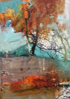"""Mixed Media Artists International: Contemporary Abstract Mixed Media Painting """"Extended Reach"""" by Intuitive Artist Joan Fullerton"""