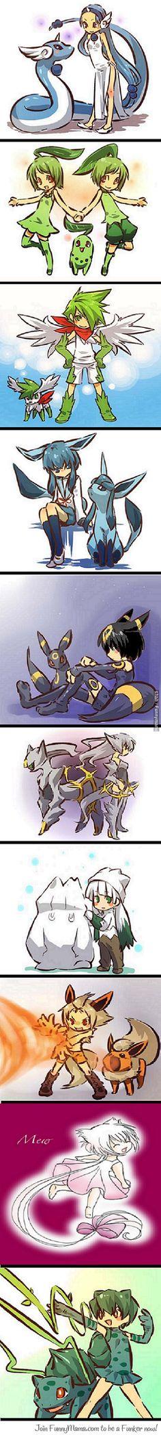 Pokemon To Human. Creepy, but Kawaii~ Pokemon Fusion, Mega Pokemon, Pokemon Pins, Pokemon Fan Art, Pikachu, Lucario Pokemon, Bulbasaur, Manga Anime, Anime Art