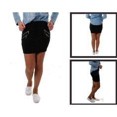 NEW. Falda de tubo corta diseño cremalleras 13.99€ - www.nuevomilenium.com ¡Tiendas de éxito!