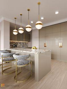 Luxury Kitchen Design, Kitchen Room Design, Contemporary Kitchen Design, Home Room Design, Kitchen Cabinet Design, Home Decor Kitchen, Interior Design Kitchen, Cuisines Design, Küchen Design