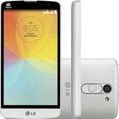 Smartphone LG L Prime Dual D337 Dual Chip Desbloqueado Android 4.4 Tela 5 8GB 3G Wi-Fi Câmera 8MP TV Digital - Branco