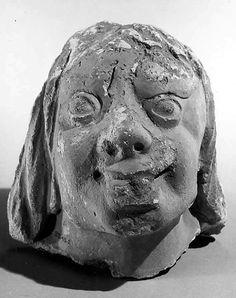 Escultura de la 'cabeza de la figura de un hombre', esta fue hecha en el siglo IV al V.
