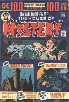 A cover gallery for the comic book House of Mystery Dc Comic Books, Vintage Comic Books, Vintage Comics, Comic Book Covers, Comic Art, Sci Fi Comics, Comics Story, Horror Comics, Strange Tales