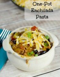 One Pot Enchilada Pasta Dinner of Awesomeness