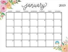 Printable 2019 January Calendar Cute 127 Best January 2019 Calendar images