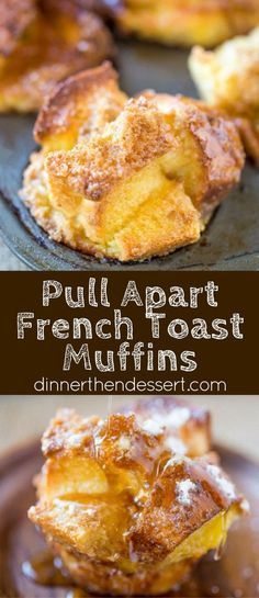 French Toast Muffins are easy to toss together with ingredients you already have in your kitchen and they're a perfect brunch dish for a crowd and fun to pull apart.