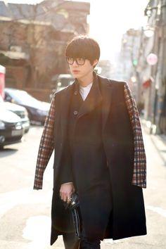 koreanmodel:  Streetstyle: Ahn Jaehyeon shot by Park Sang Yo