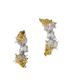 CINDY CHAO ~ Ribbon Collection Diamond Earrings