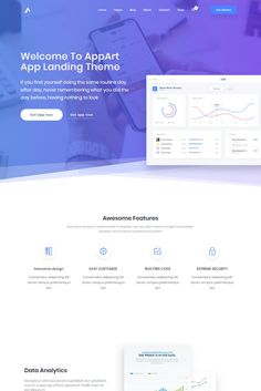Buy AppArt - Creative WordPress Theme For Apps, Saas & Software by DroitThemes on ThemeForest. It is responsive and looks stunning on all types of screens and de. Web Design Software, Web Design Tutorials, Web Design Trends, App Design, Report Design, Design Blog, Website Design Layout, Web Layout, Website Design Inspiration