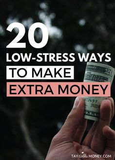 Need extra money for the holiday or the end of the year? Here are 20 ways to make money that are non-demanding and low-stress.