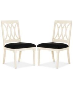 Gitanna Set of 2 Dining Chairs, Quick Ship - Black